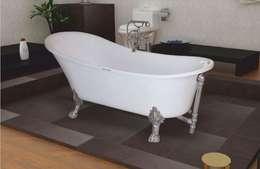 Yapıes Banyo – Krom Ayaklı Küvet: modern tarz Banyo