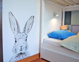 widok na tapetę magnetyczną: styl , w kategorii Pokój dziecięcy zaprojektowany przez Denika