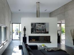 Projekty,  Salon zaprojektowane przez PaulBretz Architectes