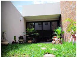 Casa Orizaba: Jardines de estilo industrial por Constructora e Inmobiliaria Catarsis