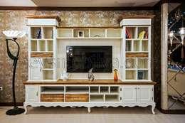 Akabe Mobilya San ve Tic. Ltd. Şti – Sheerwood Countr Tv Unitesi: rustik tarz tarz Oturma Odası