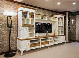 rustic Living room by Akabe Mobilya San ve Tic. Ltd. Şti