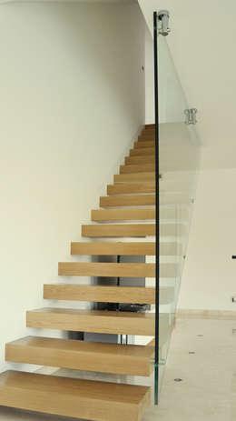 Vestíbulos, pasillos y escaleras de estilo  por Lucia D'Amato Architect