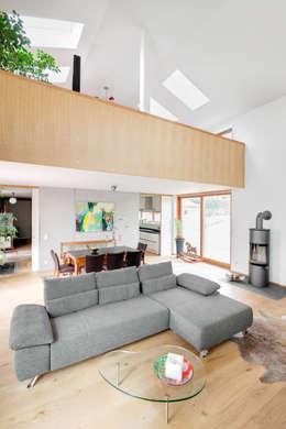 Projekty,  Salon zaprojektowane przez k² Architektur