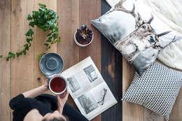 Eco-friendly: styl , w kategorii Salon zaprojektowany przez Lilla Sky
