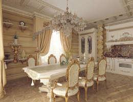Деревянный дом для отдыха.: Кухни в . Автор – Tutto design