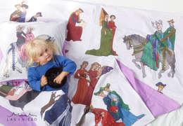 Pościel Średniowieczne księżniczki: styl , w kategorii Sypialnia zaprojektowany przez Las i niebo