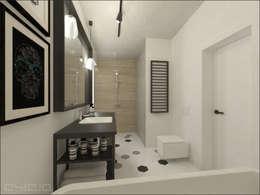 Łazienka: styl , w kategorii Łazienka zaprojektowany przez OHlala Wnętrza