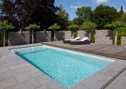 Pool mit Sicherheitsabdeckung : ausgefallener Pool von Hesselbach GmbH
