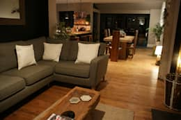 Salas / recibidores de estilo rústico por BluBambu Living