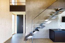 traumhaus aus holz mit linearem design. Black Bedroom Furniture Sets. Home Design Ideas