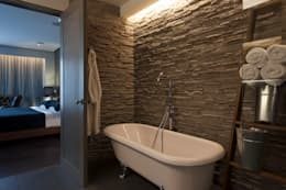 rustic Bathroom تنفيذ kababie arquitectos