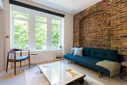 Oliver's Wharf: industrial Living room by Will Eckersley