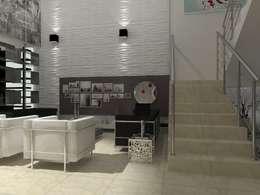 VALLE DE LAS PALMAS: Salas de estilo moderno por AurEa 34 -Arquitectura tu Espacio-