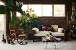 rustic Living room by odywood