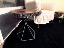 odywood – Kristal Kütük Dilim Sehpa: rustik tarz tarz Oturma Odası
