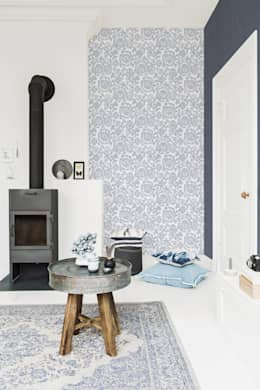 Wallpaper Denim: moderne Woonkamer door BN International