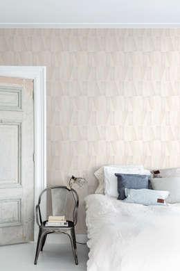 Wallpaper Denim: rustieke & brocante Slaapkamer door BN International