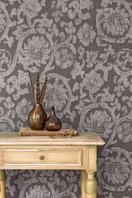 Wallpaper Denim: rustieke & brocante Woonkamer door BN International
