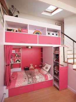 Appartement rue faubourg du temple, Paris 10e: Chambre d'enfants de style  par Ramsés Salazar Architecte