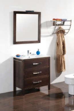 Mueble de baño Nerja de 80 wengue: Baños de estilo rústico de Bañoweb