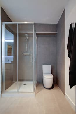 Un departamento moderno y con estilo for Esquineras para banos