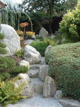 espacio zen jardines zen de estilo de contacto