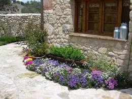 jardines de estilo rstico por contacto