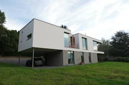 Malonne I Habitation privée très basse énergie ; K 34 - Ew 39: Maisons de style de style Moderne par SECHEHAYE Architecture et Design