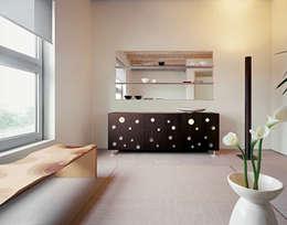 modern Living room تنفيذ HORM.IT