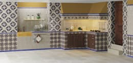 rustic Kitchen by INTERAZULEJO
