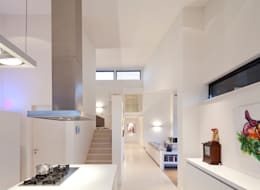 keuken - woonkamer: moderne Woonkamer door Sax Architecten