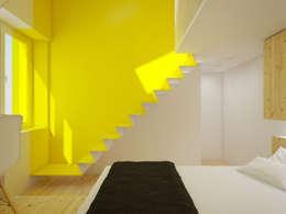 scandinavische Slaapkamer door POINT. ARCHITECTS