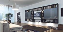 pareti attrezzate per l 39 area living e non solo. Black Bedroom Furniture Sets. Home Design Ideas