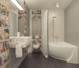 Квартира в ЖК Антарес.: Ванные комнаты в . Автор – Tutto design