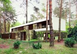 Lustrzany dom: styl nowoczesne, w kategorii Domy zaprojektowany przez REFORM Architekt Marcin Tomaszewski