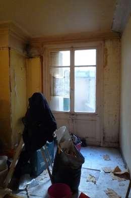 antes e depois remodela o de um est dio em paris. Black Bedroom Furniture Sets. Home Design Ideas