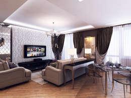 Salas / recibidores de estilo  por Дизайн студия 'Чехова и Компания'