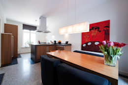 Begeleiden verbouwing,  interieur-voorstel en levering van de meubels: moderne Keuken door Mood Interieur