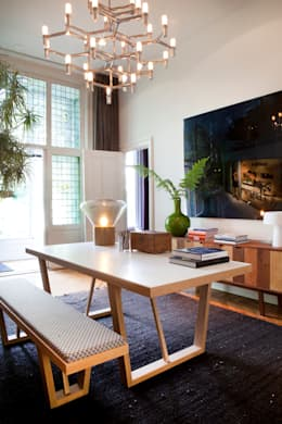 Familiehuis, Amsterdam Zuid: eclectische Studeerkamer/kantoor door Binnenvorm