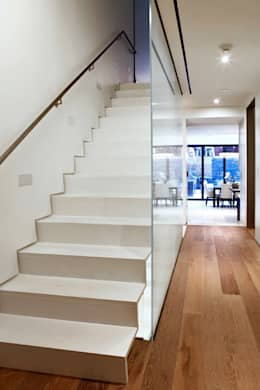 modern Corridor, hallway & stairs by Turett Collaborative Architects
