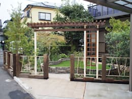 Jardines de estilo rural por 空間工房 欅