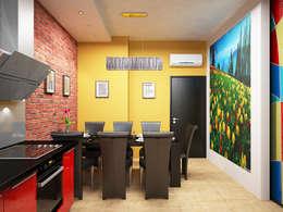 industrial Dining room by Дизайн студия Александра Скирды ВЕРСАЛЬПРОЕКТ