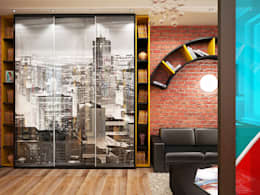 industrial Living room by Дизайн студия Александра Скирды ВЕРСАЛЬПРОЕКТ
