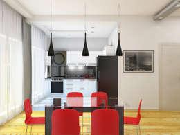eclectic Kitchen by Дизайн студия Александра Скирды ВЕРСАЛЬПРОЕКТ