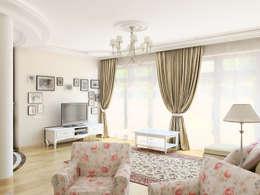 classic Living room by Дизайн студия Александра Скирды ВЕРСАЛЬПРОЕКТ