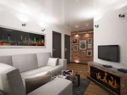 Переработка квартиры 1962 года: Гостиная в . Автор – Дизайн студия Александра Скирды ВЕРСАЛЬПРОЕКТ