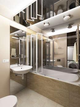 eclectic Bathroom by Дизайн студия Александра Скирды ВЕРСАЛЬПРОЕКТ