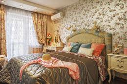 Женственная спальня.: Спальни в . Автор – Ольга Макарова (Экодизайн)