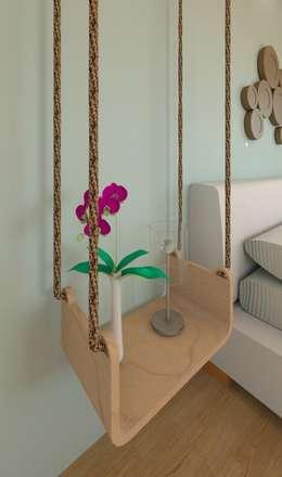 Mesita A1: Dormitorios de estilo escandinavo de MIMESIS INTERIORISMO SL